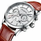 Men's Date Display Chronograph Luminous Anolog Leather Band Wrist Watch Business