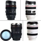 Camera Lens Cup 24-105 Coffee Tea Travel Mug Stainless Steel Thermos Black/White image