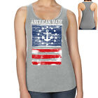 American Made Anchor Racerback Distressed US Flag Women's Tank Top - 2001C