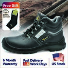 Safetoe Safety Shoes Work Boots Mens Steel Toe Leather Wide Breathable US 6 13