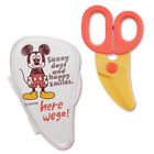 Japan SKATER Mickey Mouse Hello Kitty Baby Food Cutter Scissors With Case