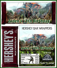 JURASSIC DINOSAUR BIRTHDAY PARTY FAVORS CANDY BAR HERSHEY BAR WRAPPERS