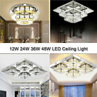 Modern Crystal Ceiling Light LED Pendant Lamp Flush Mount Chandelier Fixtures
