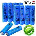 10x 18650 Battery 3.7V Li-ion Rechargeable+Charger For Flashlight Headlamp Torch