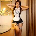 French Maid Outfit Fancy Dress Sexy Women Halloween Costume Cosplay Hot D
