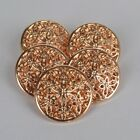 Rose Gold Metal decorative buttons 15mm or 20mm sold per button
