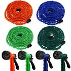 Durable 25 50 75 100 Feet Expandable Flexible Garden Water Hose w/ Spray Nozzle