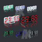 Modern Digital 3D LED Table Desk Clock Watches 24or 12-Hour Display Snooze