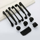 New Aluminum Black Kitchen Cabinet Door Handles Drawer Cupboard Pull Handle Knob
