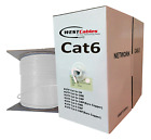 1000ft Cat6 Plenum Cable 550MHz - WHITE - YELLOW - RED