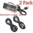 2PCS 10 Ft Extension Cable Cord for Nintendo Nes Mini Classic Edition Controller