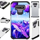 FUSIONGuard For Samsung Galaxy NOTE 9 8 S9 S8 PLUS Phone Case SPACE PURPLE WHALE