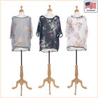New Women Fashion Floral Printed Short Sleeve Blouse Top T Shirt  - 30040