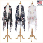 New Women Fashion Floral Printed Chiffon Open Front Sleeveless Vest - 30042