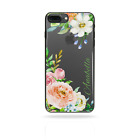 PERSONALISED FLOWER PRINT INITIALS PHONE CASE CLEAR HARD COVER FOR OPPO F3,F5,F7