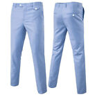 Mens Straight Trousers Chinos Stretch Skinny Slim Fit Jeans Pant All Waist M-6XL