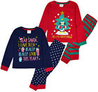 Girls Christmas Pyjama Set Xmas Pajama Red Navy Pj 2 Psc Ages 2 3 4 5 6 Years