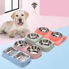 Pet Feeding Double Bowl With Stainless Steel Food Water Feeder For Dog Cat Puppy