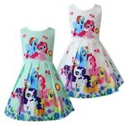 Внешний вид - Girls Skater Dress Kids My Little Pony Print  Casual Party Birthday Dresses L26
