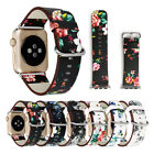 Genuine Leather iWatch Band Women Girl Painted Wrist Strap for Apple Watch 1/2/3 image