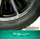 Wheel Rim Decal sticker to fit OZ Racing curved up from the bottom of rim x4 set