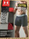 UNDER ARMOUR Boxerjock Mens CHARGED COTTON Boxer Briefs RED