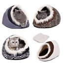 Warm Soft Cat Cave Bed Dog House Puppy Kennel Shelter Kitty Rabbit Lounge Cage