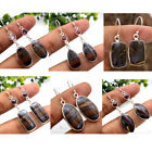 Iron Tiger Eye Dangle Earring Solid 925 Sterling Silver Handmade Jewelry av0003