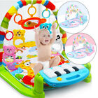 Kids Toddler Gym Play Mat Lay & Play 3 in 1 Fitness Music And Lights Fun Piano
