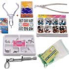 Dental Sectional Contoured Matrice Matrix & 40 Add-On Wedges & Plier & Striproll