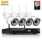 5MP Audio Wireless IP Security Camera System Outdoor Surveillance Wifi H.265 NVR