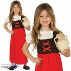 Child Girls Innkeeper Christmas Nativity Fancy Dress Outfit Medieval Costume