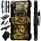 Lux-Guard For iPhone 6/7/8 PLUS/X/XR/XS Max Phone Case Cover CAMO FOLIAGE BROWN