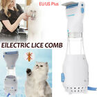 Electric Brush Comb Head Lice Vacuum Pet Dog Cleaning Capture Tool + 3 Filters