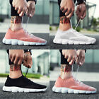 Mens Casual Sneakers Knit Breathable Lightweight Soft Anti Slip Walking Shoes