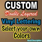 Custom Vinyl Lettering Decal With Background Window City Name Sign Two Tone