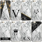 PERSONALISED INITIALS MOTO G6 X4 CASE GREY MARBLE HARD COVER FOR MOTOROLA PHONE