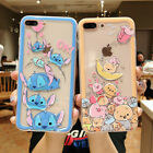 Cute Cartoon Pooh Stitch Mickey Clear Hard PC Case For iPhone 6 7 8 X XS XR Max