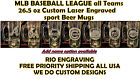 MLB Baseball League Teams Beer Mug 26.5 oz Personalized Laser Engraved FREE SHIP on Ebay