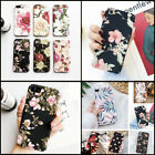 "For Iphone Xs Max 6.5"" 6 7 8 Plus 5 Se Matte Floral Flower Hard Phone Case Cover"