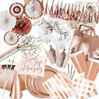 Rose Gold Foil Birthday Wedding Party Supplies Tableware Decorations & Favours