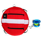Freediving Buoy Inflatable Marker + Reel Spool for Scuba Diving Spearfishing