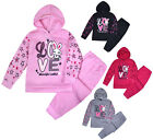 Girls Tracksuit New Kids Stars Hoodie And Joggers Love Set 2PSC Ages 1 - 6 Years