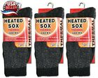 3 Pairs Men's Thermal Socks Heated Sox Insulated Winter Value Pack