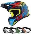 PULL-IN Trash Motocross Kinder Helm 2019 cyan rot Brille Enduro Offroad
