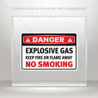 Decals Stickers Danger Flammable Gas Keep Fire Or Flame Away No Sm st7 X9W84