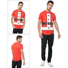 Seasons Greetings Mens Santa Dress Up Christmas T Shirt Novelty Xmas Winter Tee