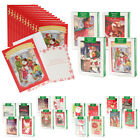 48pk Merry Christmas Cards Bulk Assortment Holiday Card Pack with Foil