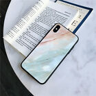 Marble Case Glossy Tempered Glass Back Cover Case For iPhone 6 7 8 X XR XS Max
