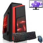 Ultra Fast Amd Dual Core Radeon Bundle 8gb Ddr4 1tb Gaming Pc Computer F3 Red